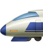 High-Speed Train with Bullet Nose