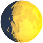 Wachsendes Gibbous-Mond-Symbol