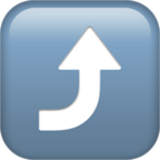 Arrow Pointing Rightwards Then Curving Upwards