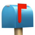 Closed Mailbox with Raised Flag