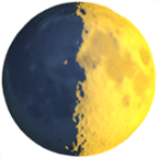 First Quarter Moon Symbol