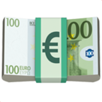 Billete con signo euro