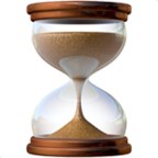 Hourglass with Flowing Sand