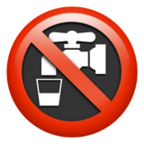 Non-Potable Water Symbol
