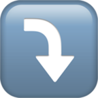 Arrow Pointing Rightwards Then Curving Downwards