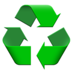 Black Universal Recycling Symbol