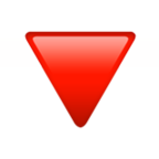 Down-Pointing Red Triangle